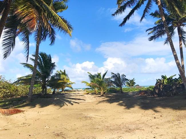 выход к пляжу